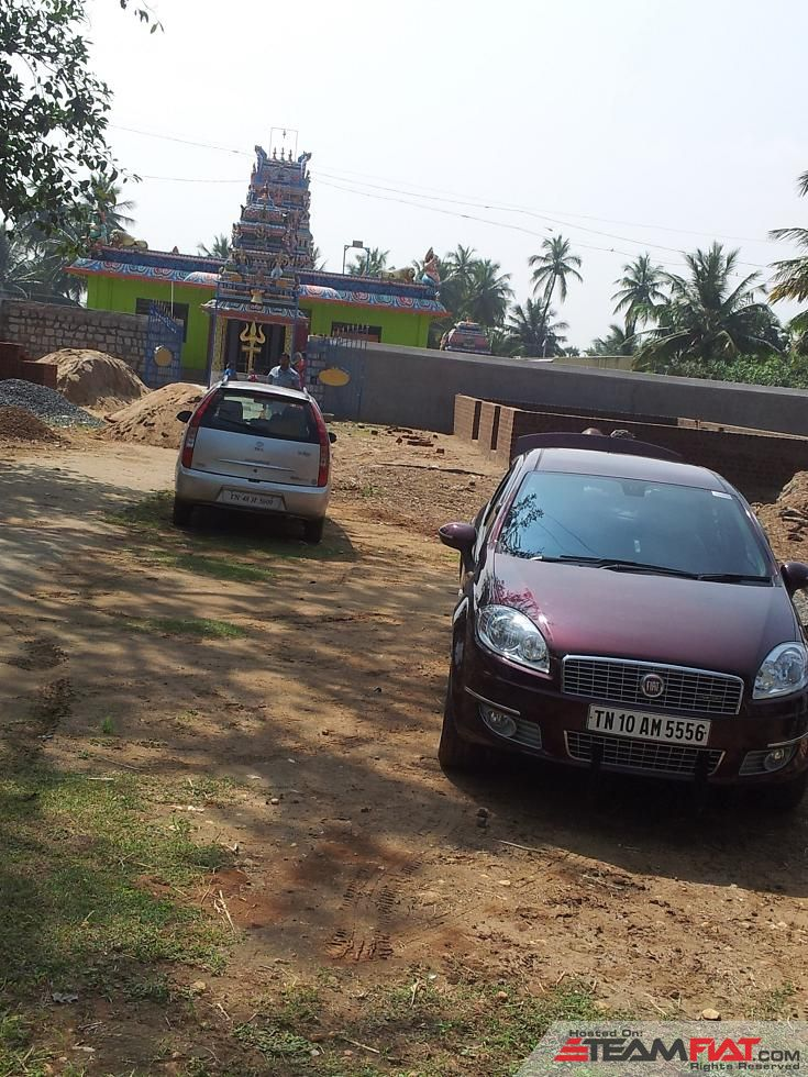 Car Parked outside the temple.JPG