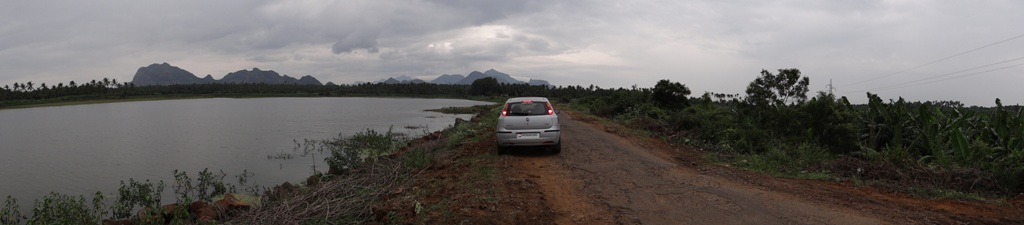 Land, Water, Mountains, Sky and my Punto.JPG