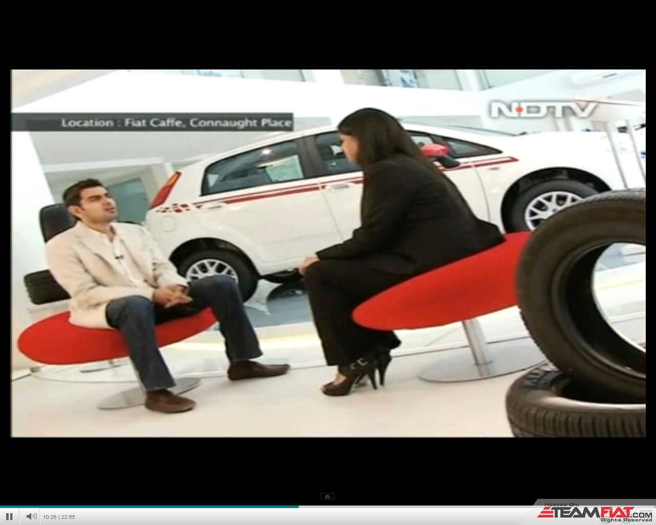 NDTV Show at Fiat Caffe.JPG
